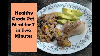 Southwestern Chicken And Rice- Large Family Healthy Crock Pot Meal