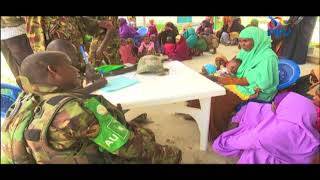 KDF troops in Somalia helping locals patch up wounds of war