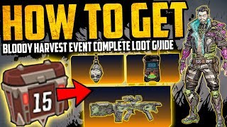 Borderlands 3: Bloody Harvest - ALL LOOT REWARDS GUIDE - How To Get - 15 Challenges