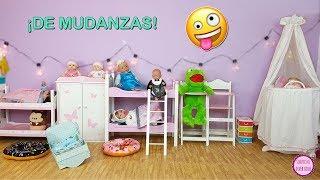 Bebés de mudanza 📦 Lindea y Ben están en una nueva habitación llena de juguetes