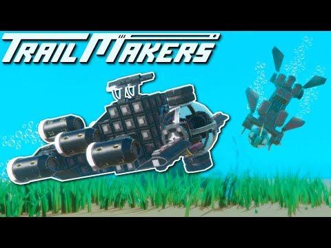 UNDERWATER SUBMARINE BATTLE! - Trailmakers Multiplayer