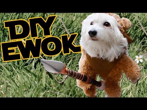 Cómo hacer un disfraz para tu perro| Ewok