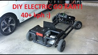 How We Made A DIY PVC / EMT Electric Go Kart (48V 2000W)