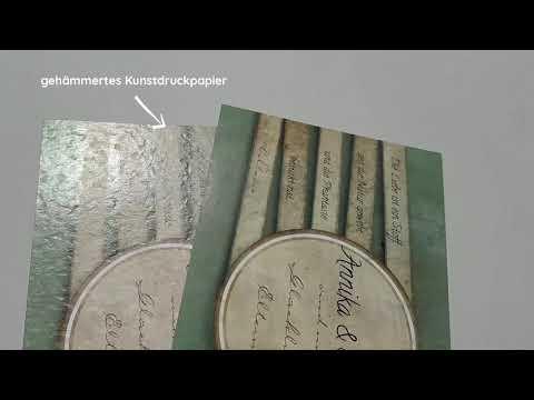Papiersortenvergleich - Bilderdruck / gehämmertes Kunstdruckpapier
