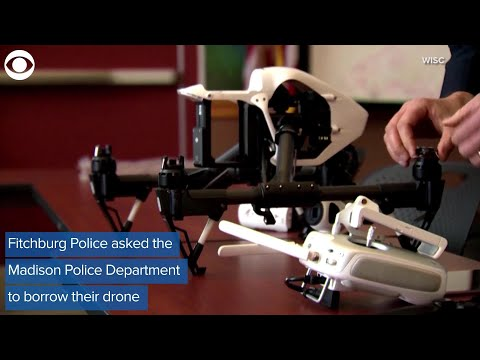 WEB EXTRA Drone helps police catch suspect