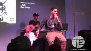 """Little Girl Gets On Stage As J. Cole Performs """"Power Trip"""" (NYC)"""