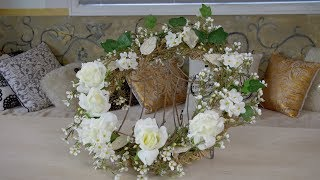 How To Make A Wildflower Christmas Door Wreath (Part Two)