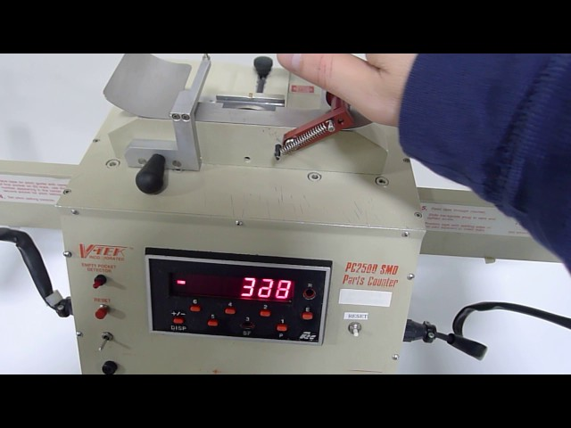 V-TEK PC 2500 motorized component counter. This video shows that the unit is fully functional.