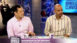 Alvin Patrimonio and Benjie Paras on Tonight with Arnold Clavio