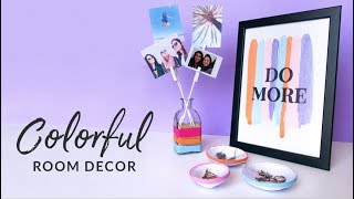 DIY Cheap Room Decor | Balloon Photo Display, Quote Art And Paper Bowls