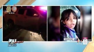"""ทุบโต๊ะข่าว : ตายแล้ว! เด็กหญิงคลิปดังพูด """"ชอ ช้าง""""ไม่ชัดถูกกระบะพุ่งชนจนร่างกระเด็นตกถนน 09/10/59"""