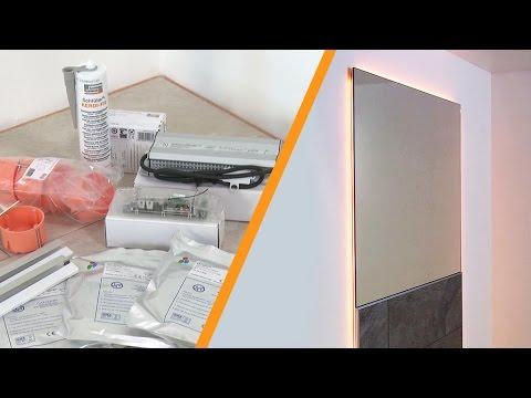 Installare uno specchio a parete con illuminazione a LED: Schlüter®-LIPROTEC-WS