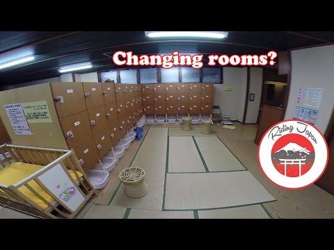 Inside a Japanese public bath, hot springs