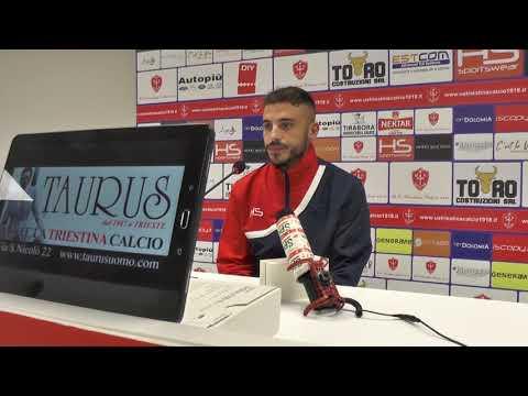 Sala stampa Triestina - Piacenza: Guido Gomez