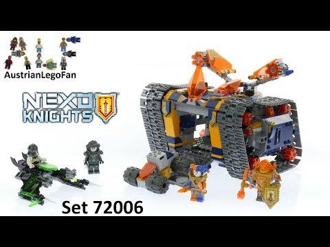 Vidéo LEGO Nexo Knights 72006 : L'arsenal sur chenilles d'Axl