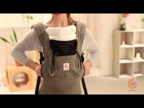 Ergobaby Neugeborenen-Einsatz: Anleitung für Säuglinge