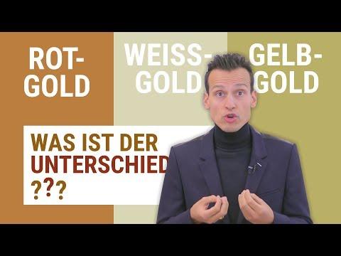 Weißgold, Rotgold, Gelbgold - Was ist der Unterschied?