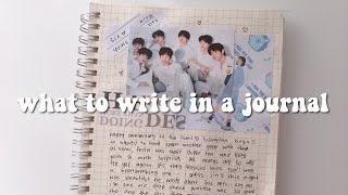 what to write in a kpop journal // journal ideas 📓
