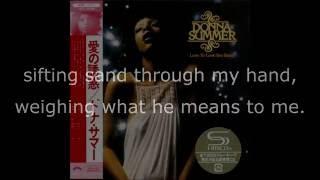 "Donna Summer - Whispering Waves LYRICS HQ SHM ""Love to Love You Baby"" 1975"