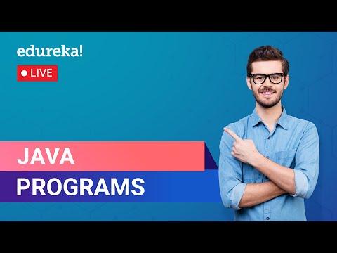 Java Practice Programs Basic & Advanced   Basic Java Programs   Java Program   Edureka   Java Live-1