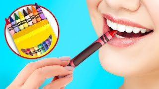 School Supplies Pranks | Crayons And Paper You Can Eat!