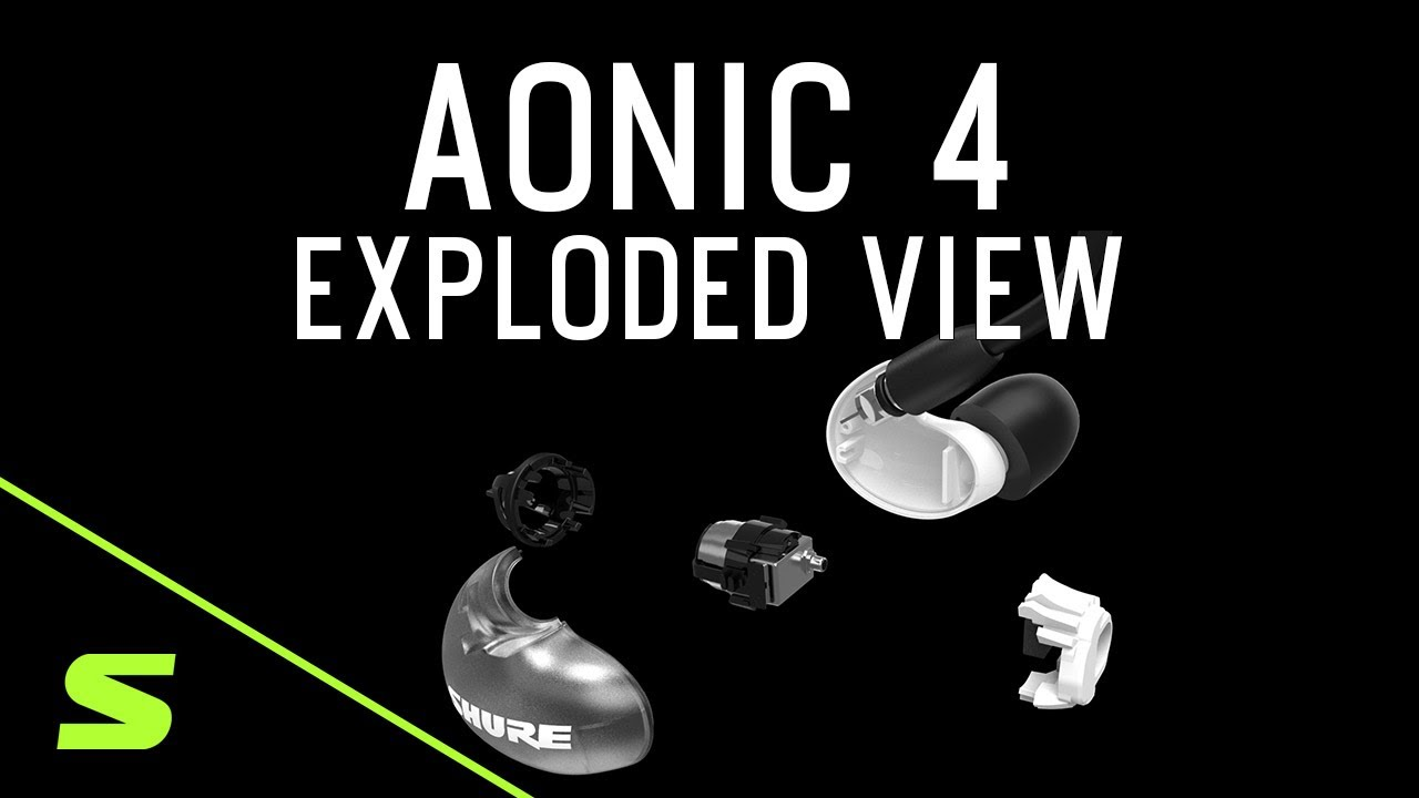 Shure AONIC 4 Sound Isolating Earphones - Exploded View Detail