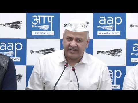 AAP Senior Leader Manish Sisodia Briefs Media on Voter Deletion