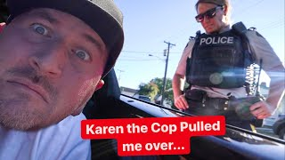 COP MESSES WITH THE WRONG LAMBORGHINI OWNER! *KAREN THE COP*