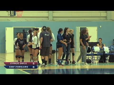 Santa Monica College Women's Volleyball vs Citrus College - October 18, 2017 (Full Game)