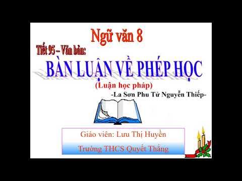 Bàn luận về phép học_ Nguyễn Thiếp, cô Huyền
