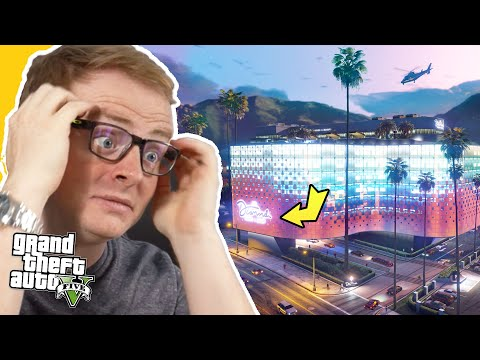 First Look at the NEW Casino in GTA Online!! (GTA 5 Diamond Casino Launch Trailer Reaction)