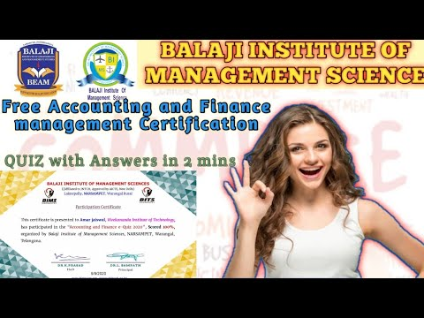 Accounting and Finance Free Certification | Online Course | Free ...