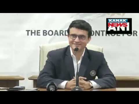 Sourav Ganguly addressing media after taking charge as the President of BCCI in Mumbai