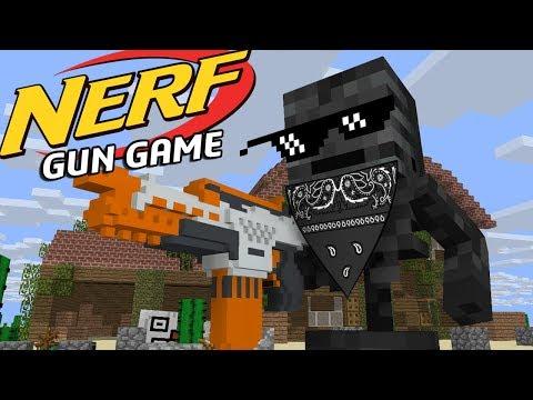 Monster school: NERF GUN GAME - Minecraft Animation