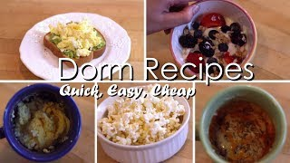 5  College Dorm Recipes // Easy Meals to Make in a Dorm