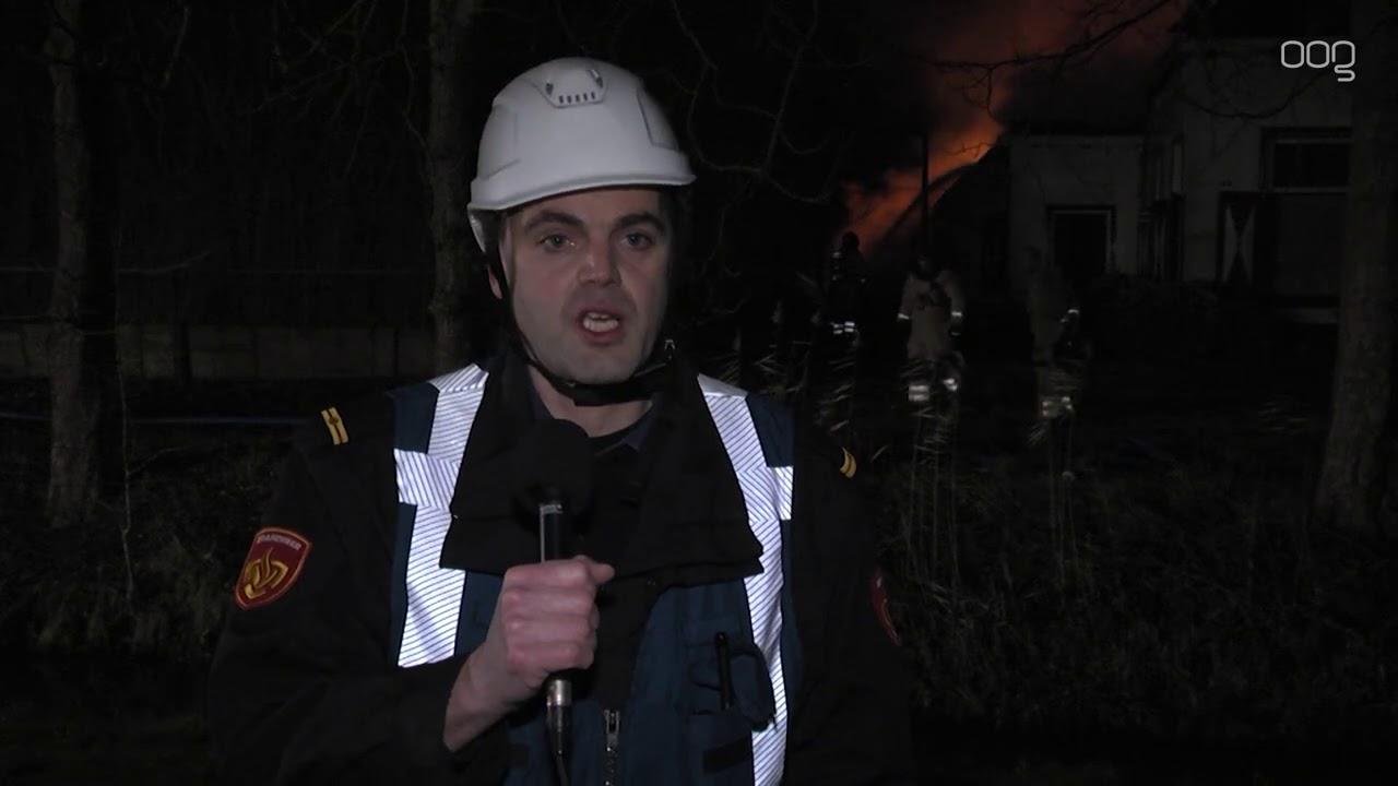 Uitslaande brand in boerderij aan Stadsweg
