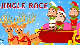 Jingle Race | Jingle Bells | Popular Christmas Songs for Kids | Woohoo Rhymes| Christmas Special