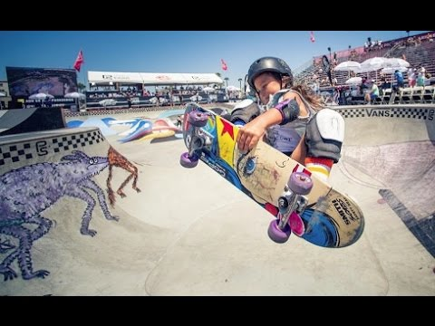 Sky youngest girl to skate in the Vans Us Open Pro Series...