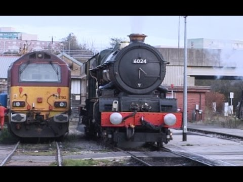 GWR 6024 'King Edward 1' with 'The Devonian' at Dawlish at s…