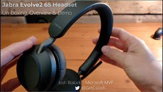 Jabra Evolve2 65 UC Headset - Unboxing, Device Overview, Demo