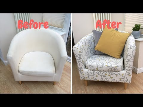 HOW TO RE COVER AN IKEA TUB CHAIR