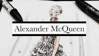 SILVER FEATHER Alexander McQueen Spring 2012 RTW