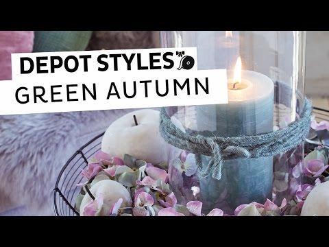 DEPOT Styles | herbstliche Dekoschale in Pastelltönen | Einfache Herbstdeko für Zuhause