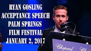 Ryan Gosling Honors Debbie Reynolds During PSIFF Speech  1217