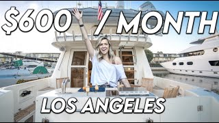 What It's Like To Live On a $600 Per Month BOAT in Los Angeles