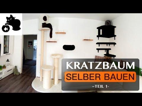 🔥Kratzbaum selber bauen - DIY Kratzbaum - Kletterwand für Katzen - Catwalk
