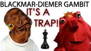 Blackmar Diemer Gambit Chess Trap On The Weak F7 Square