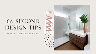 How to Select bathroom Tiles