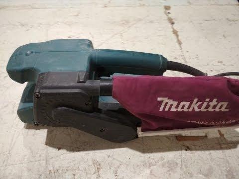 Ремонт ленточной шлифмашины Makita.  Repair belt grinders Makita.