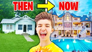 6 YouTubers Houses Then And Now! (Preston, Morgz, Ali-A, DanTDM)